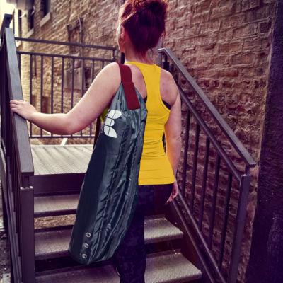 Natural Fitness YOGO Traveler Bag- Gray/Red