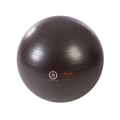 Natural Fitness PRO Burst Resistant Exercise Ball- 55cm Small- PLUM