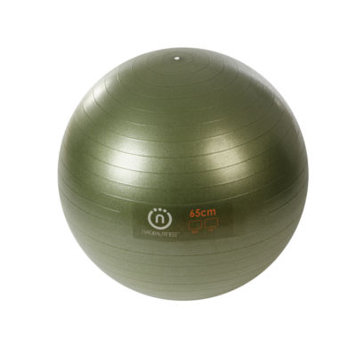 Natural Fitness PRO Burst Resistant Exercise Ball- 65cm Small- OLIVE