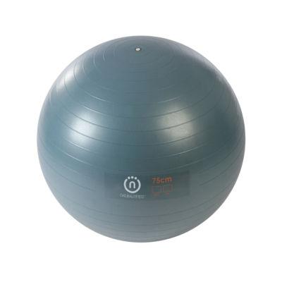Natural Fitness PRO Burst Resistant Exercise Ball- 75cm Small- SLATE