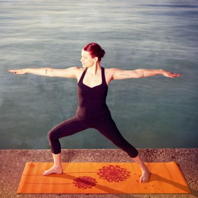 """Natural Fitness Eco-Smart Yoga Mat-  24"""" x 69"""" x 6mm"""