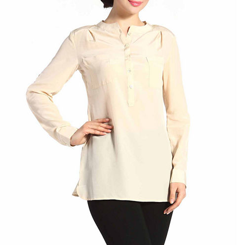 phistic Women's 'Penny' Silk Rolled Sleeve Shirt