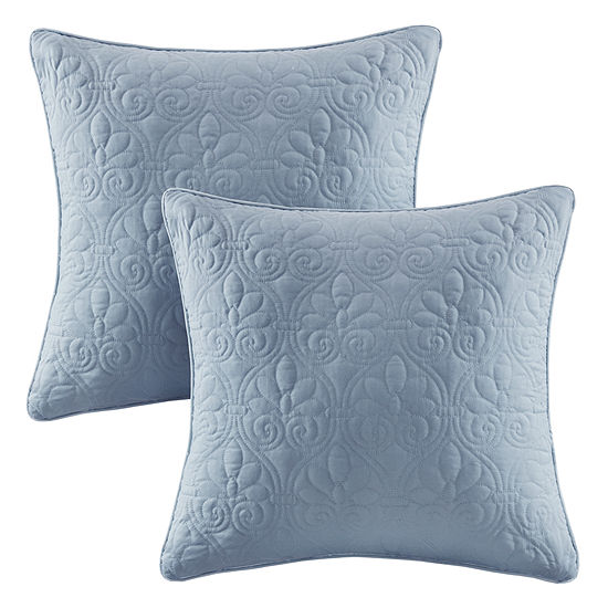 Madison Park Mansfield Quilted Square Throw Pillow Pair