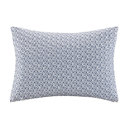 Madison Park Signature Basket Weave Cotton Embroidered Throw Pillow