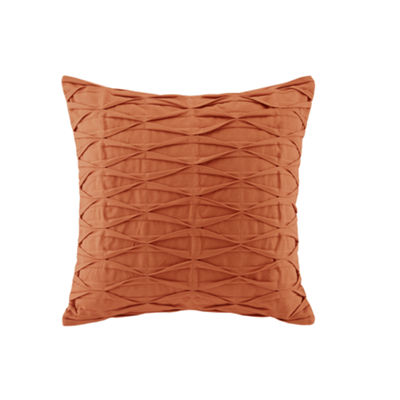 Nara Pintuck Cotton Decorative Throw Pillow