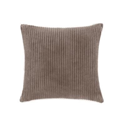 Madison Park Jackson Corduroy Plush Square Throw Pillow