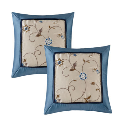 Madison Park Belle Embroidered Throw Pillow Pair