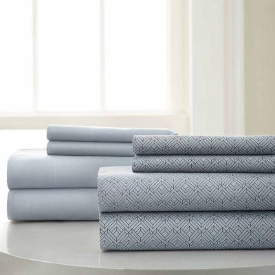 Pacific Coast Textiles Diamond Print Microfiber Wrinkle Resistant Sheet Set