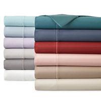 Deals on Royal Velvet Luxury 600tc Sateen Wrinkle Free Sheet Set Full