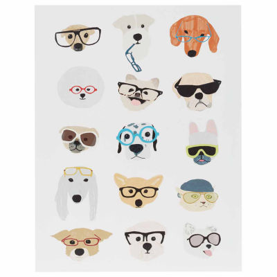 Intelligent Design Hip Dog Printed MDF Box Wall Art