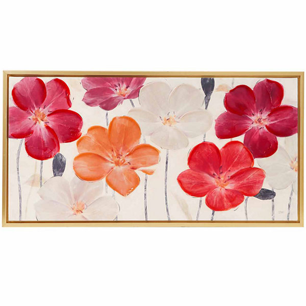 Madison Park Floral Fields Hand Embellishment Canvas