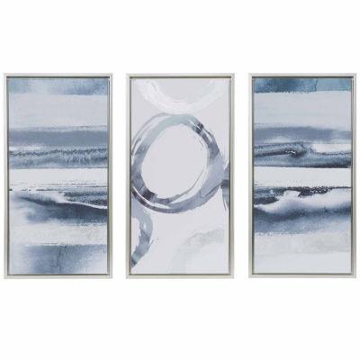 Madison Park Grey Surrounding Printed Canvas 3 Pc Set