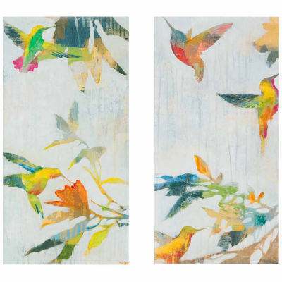 Madison Park Hummingbirds' Hum Gel Coat Canvas