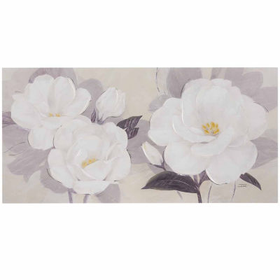 Madison Park Midday Bloom Floral Hand EmbellishedCanvas Art
