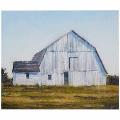 Madison Park Old White Barn Gel Coat Canvas