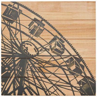 Madison Park Vintage Ferris Wheel Printed On Wood
