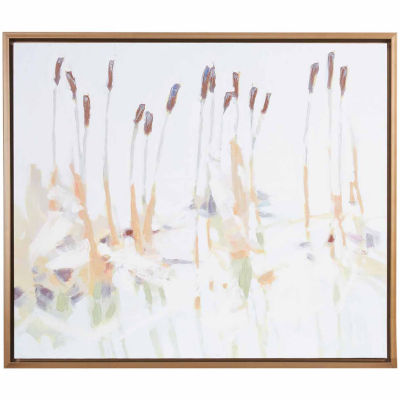 Madison Park Signature Chesapeake Cattails Hand Embellished Canvas Wall Art