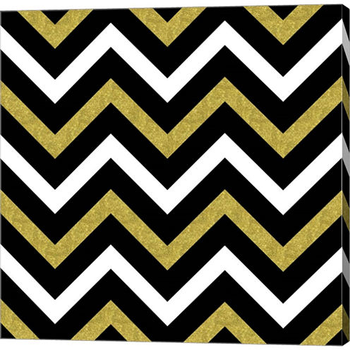 Bling Chevron Gallery Wrapped Canvas Wall Art On Deep Stretch Bars