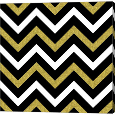 Metaverse Art Bling Chevron Gallery Wrapped CanvasWall Art