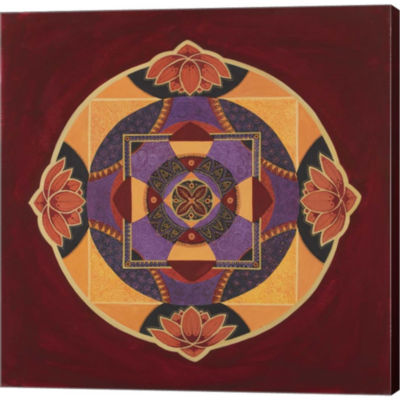 Bliss Mandala Gallery Wrapped Canvas Wall Art On Deep Stretch Bars
