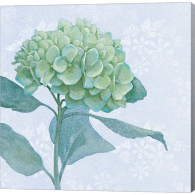 Metaverse Art Blue Hydrangea I Gallery Wrapped Canvas Wall Art