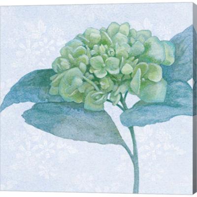 Metaverse Art Blue Hydrangea II Gallery Wrapped Canvas Wall Art