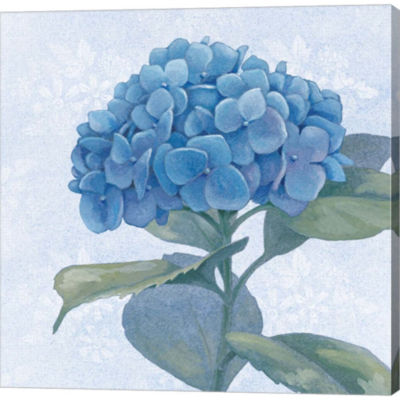 Blue Hydrangea IV Gallery Wrapped Canvas Wall ArtOn Deep Stretch Bars