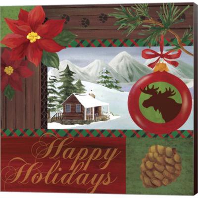 Christmas Lodge I Gallery Wrapped Canvas Wall ArtOn Deep Stretch Bars