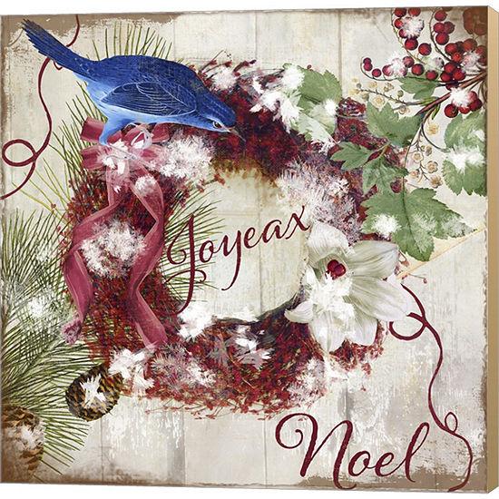 Metaverse Art Bluebird Christmas I Gallery WrappedCanvas Wall Art
