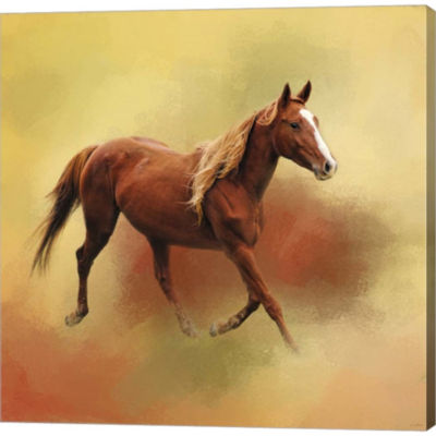 A Dash Of Chestnut Mare Gallery Wrapped Canvas Wall Art On Deep Stretch Bars