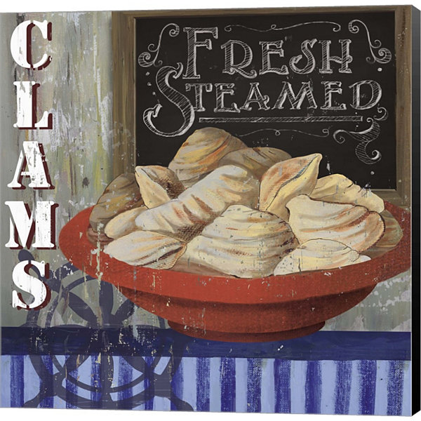 Clams Gallery Wrapped Canvas Wall Art On Deep Stretch Bars