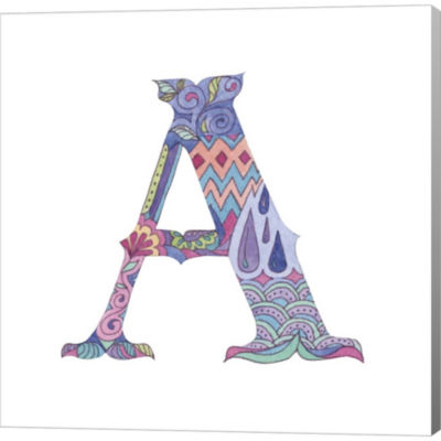 Metaverse Art The Letter A Gallery Wrapped CanvasWall Art