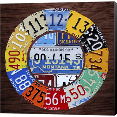 Metaverse Art Clock Square Gallery Wrapped CanvasWall Art