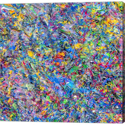 Metaverse Art Abstract 5 Gallery Wrapped Canvas Wall Art