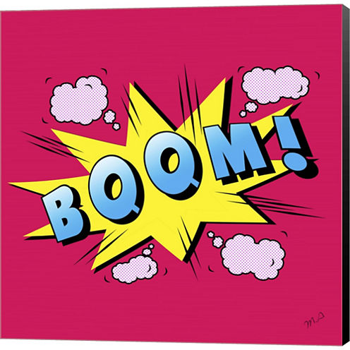 Boom Gallery Wrapped Canvas Wall Art On Deep Stretch Bars