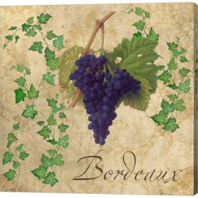 Metaverse Art Bordeaux Gallery Wrapped Canvas WallArt