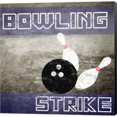 Metaverse Art Bowling Strike Gallery Wrapped Canvas Wall Art