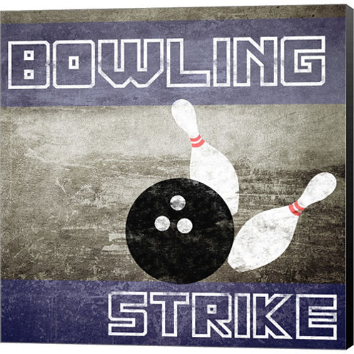 Bowling Strike Gallery Wrapped Canvas Wall Art OnDeep Stretch Bars