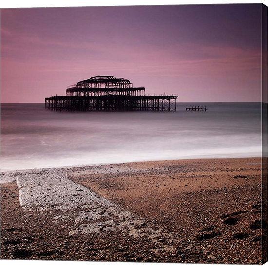 Metaverse Art Brighton Pier Gallery Wrapped CanvasWall Art