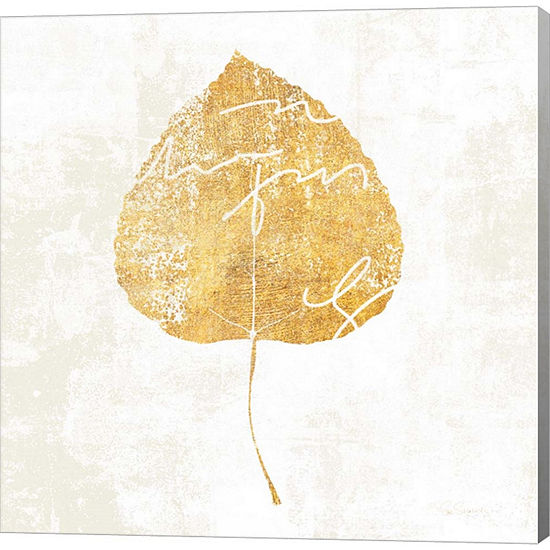 Metaverse Art Bronzed Leaf II Gallery Wrapped Canvas Wall Art