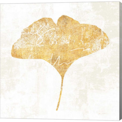 Metaverse Art Bronzed Leaf III Gallery Wrapped Canvas Wall Art