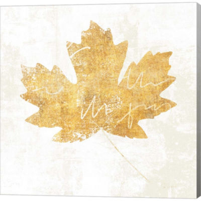 Bronzed Leaf IV Gallery Wrapped Canvas Wall Art OnDeep Stretch Bars