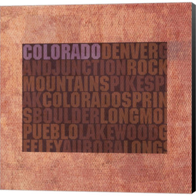Metaverse Art Colorado State Words Gallery WrappedCanvas Wall Art