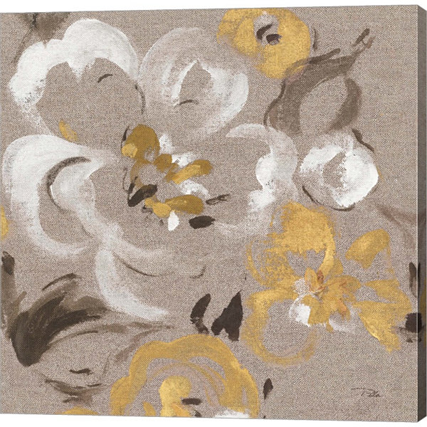 Brushed Petals II Gallery Wrapped Canvas Wall ArtOn Deep Stretch Bars