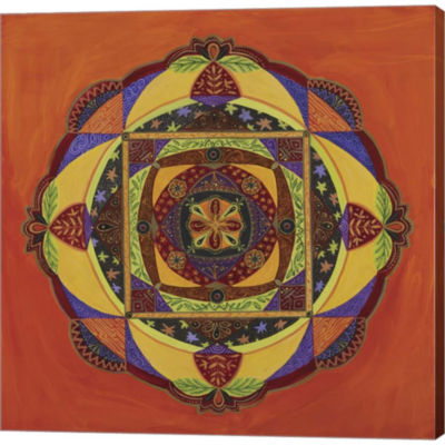 Compassion Mandala Gallery Wrapped Canvas Wall ArtOn Deep Stretch Bars