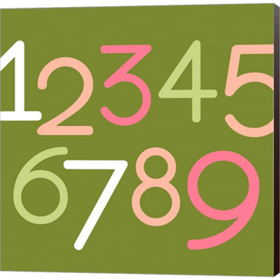 Metaverse Art Contemporary Baby Numbers III Gallery Wrapped Canvas Wall Art