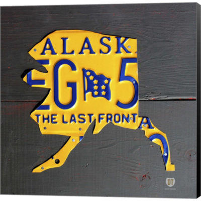 Metaverse Art Alaska Gallery Wrapped Canvas Wall Art