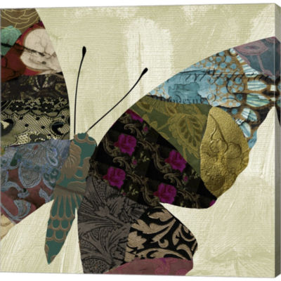 Metaverse Art Butterfly Brocade IV Gallery WrappedCanvas Wall Art