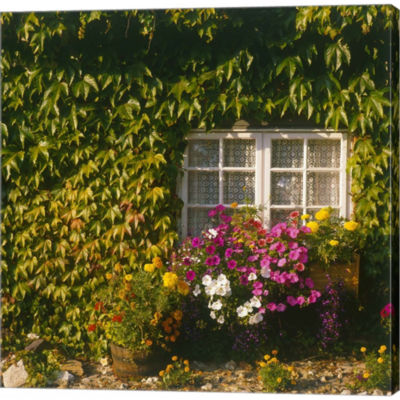 Cottage; Devon; England Gallery Wrapped Canvas Wall Art On Deep Stretch Bars