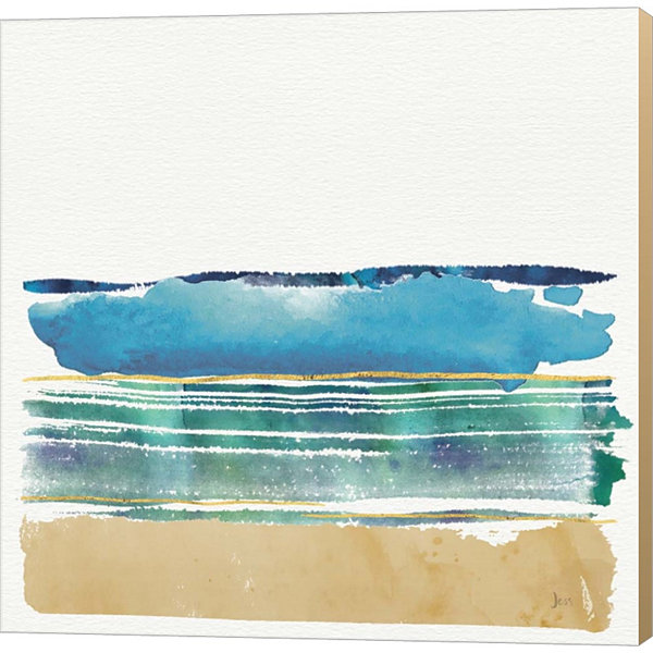 By The Sea I by Jess Aiken Gallery Wrapped CanvasWall Art On Deep Stretch Bars